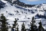 laviny ohrožují trať v pohoří Sierra Nevada