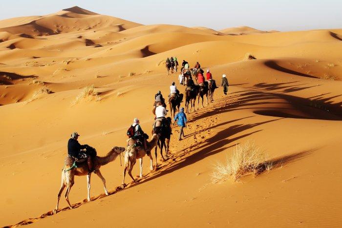 Pouštní karavana (Maroko, Katarina Maruškinová)