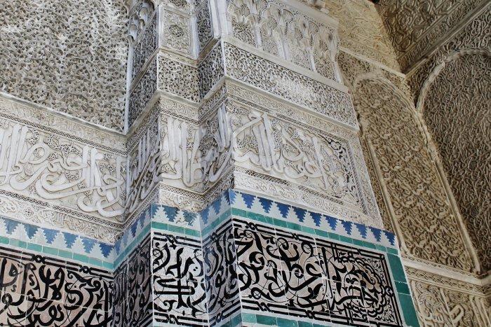Výzdoba v medrese Attarine, Fes (Maroko, Katarina Maruškinová)