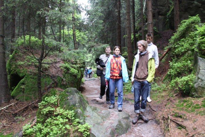 školení průvodců - výlet v Teplických skalách A (Michal Čepek)