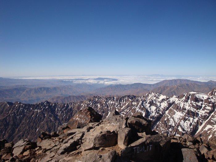 výhled z vrcholu Toubkalu (Maroko, Gabriela Šifaldová)