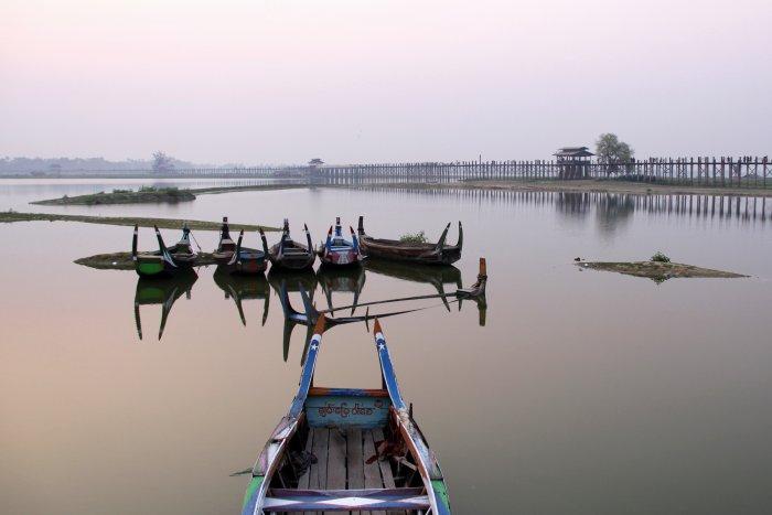 nejdelší most z týkového dřeva na světě (Barma, Michal Čepek)