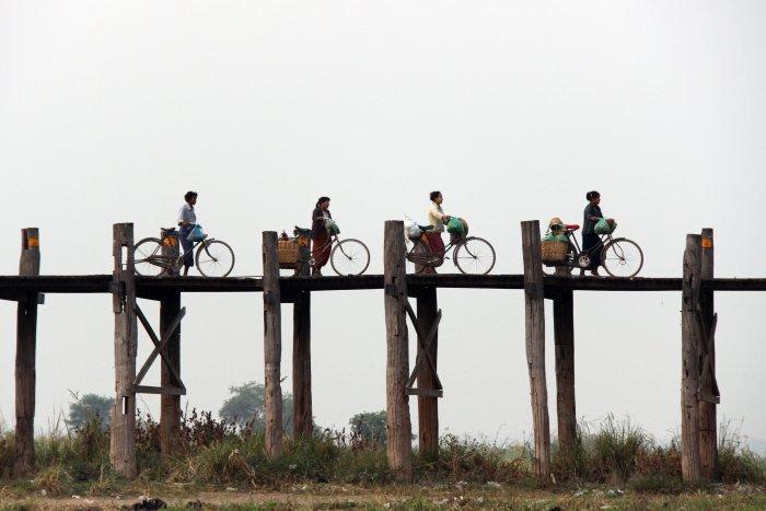 Amarapura, nejdelší most z týkového dřeva (Barma, Michal Čepek)